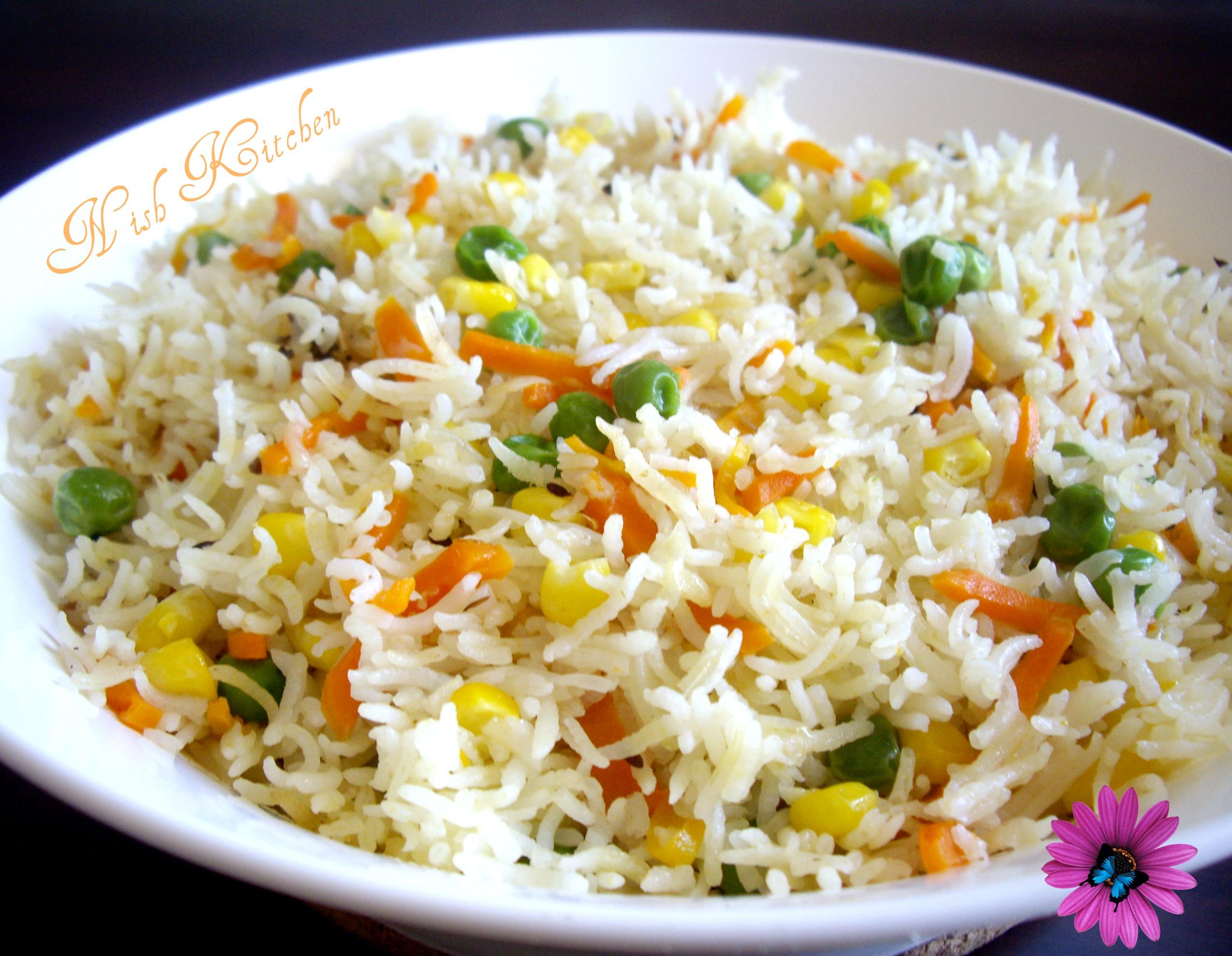 Tricolor Pulao Nish Kitchen