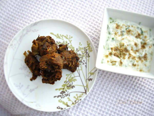 Spicy Duck with Herbed Yogurt Dip