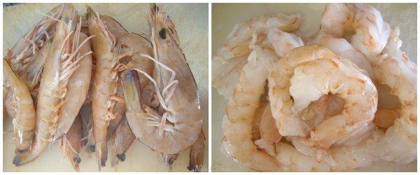 Cleaned prawns