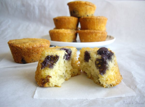 Mini blueberry tea cakes