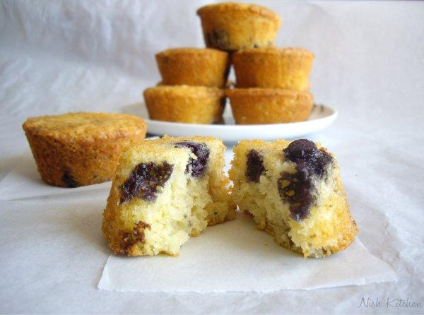 Mini blueberry tea cakes