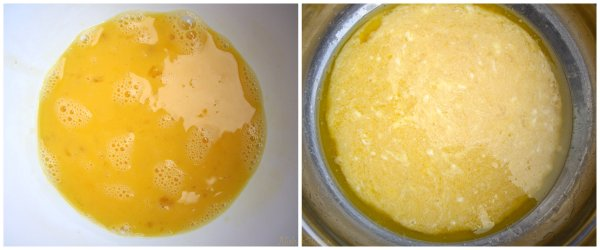 wet ingredients for tea cake