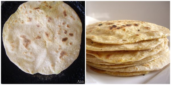aloo paratha on stove