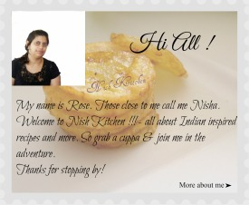 Nish Kitchen - My Cooking Adventures